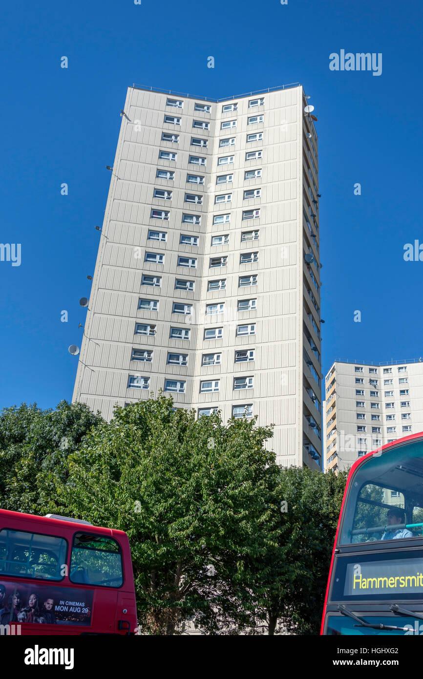 Rufford & Moreton Towers, Steyne Housing Estate, Lexden Road, Acton, Borough of Ealing, Greater London, England, - Stock Image
