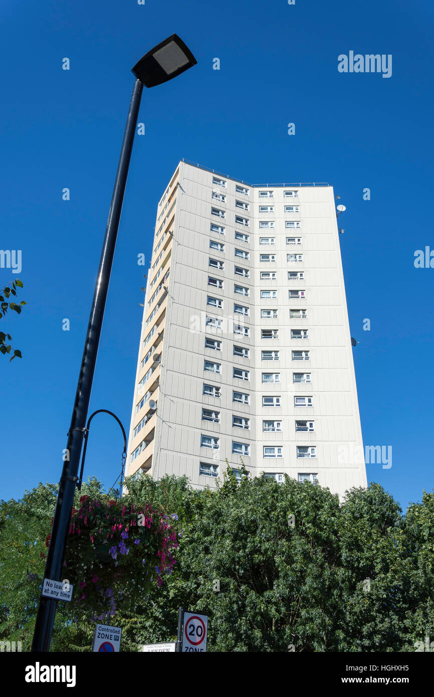 Rufford Tower, Steyne Housing Estate, Lexden Road, Acton, Borough of Ealing, Greater London, England, United Kingdom - Stock Image
