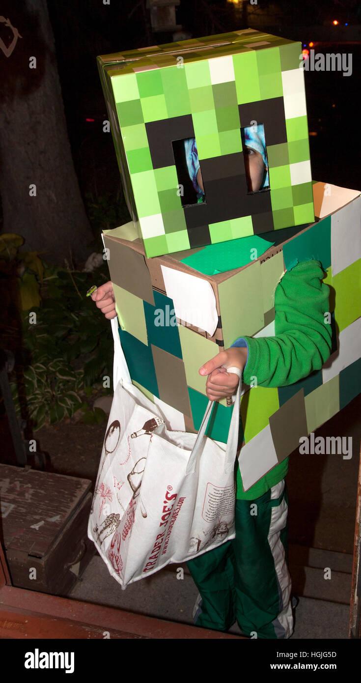 "halloween ""minecraft"" costumes the box robot revisited worntrick"