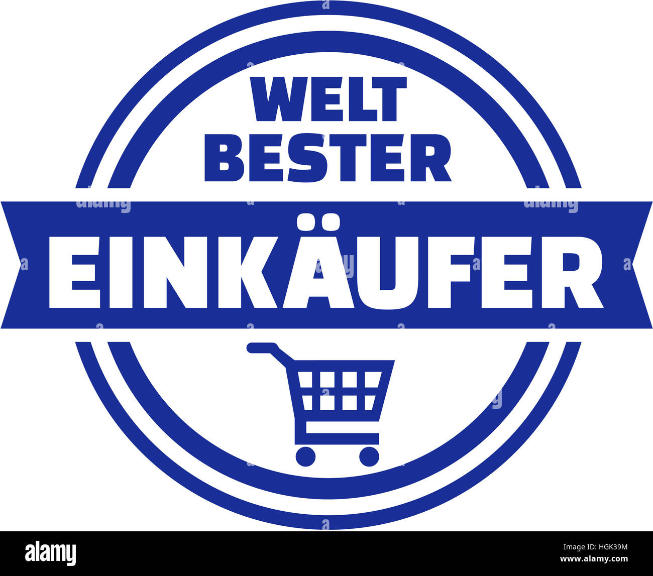 World's best purchaser german button - Stock Image
