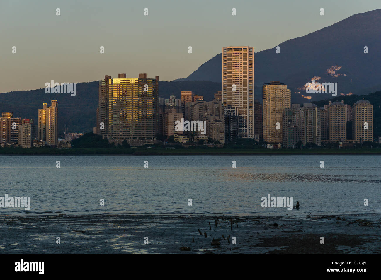 Skylines in the dusk - Stock Image