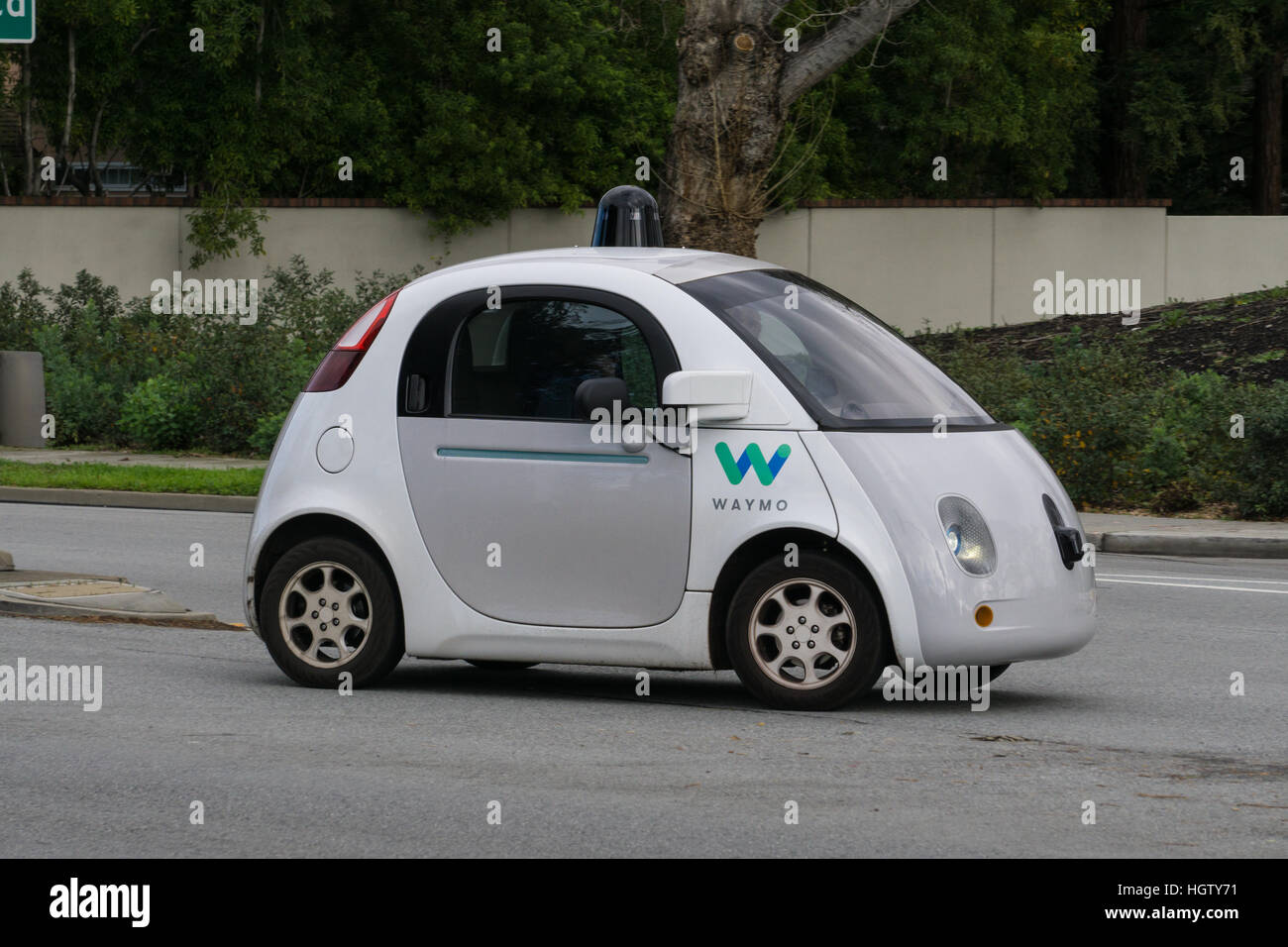 Google Self Driving Car Stock Photo