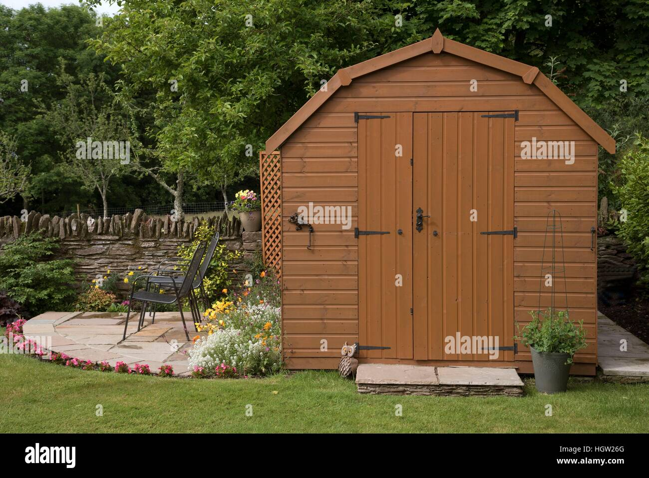 Devon England Uk, Barn Style Garden Shed With A Small Patio And ...