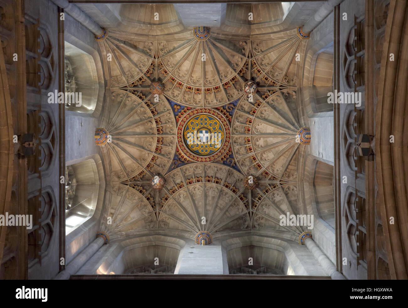 interior of canterbury cathedral kent Stock Photo