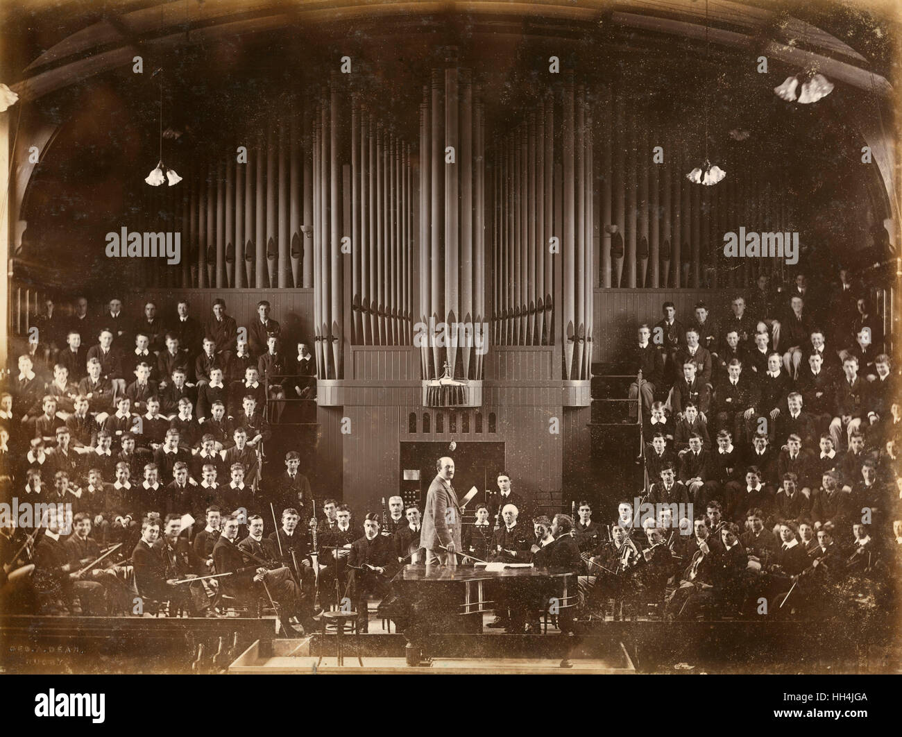 The orchestra of Rugby School during the Edwardian era. - Stock Image
