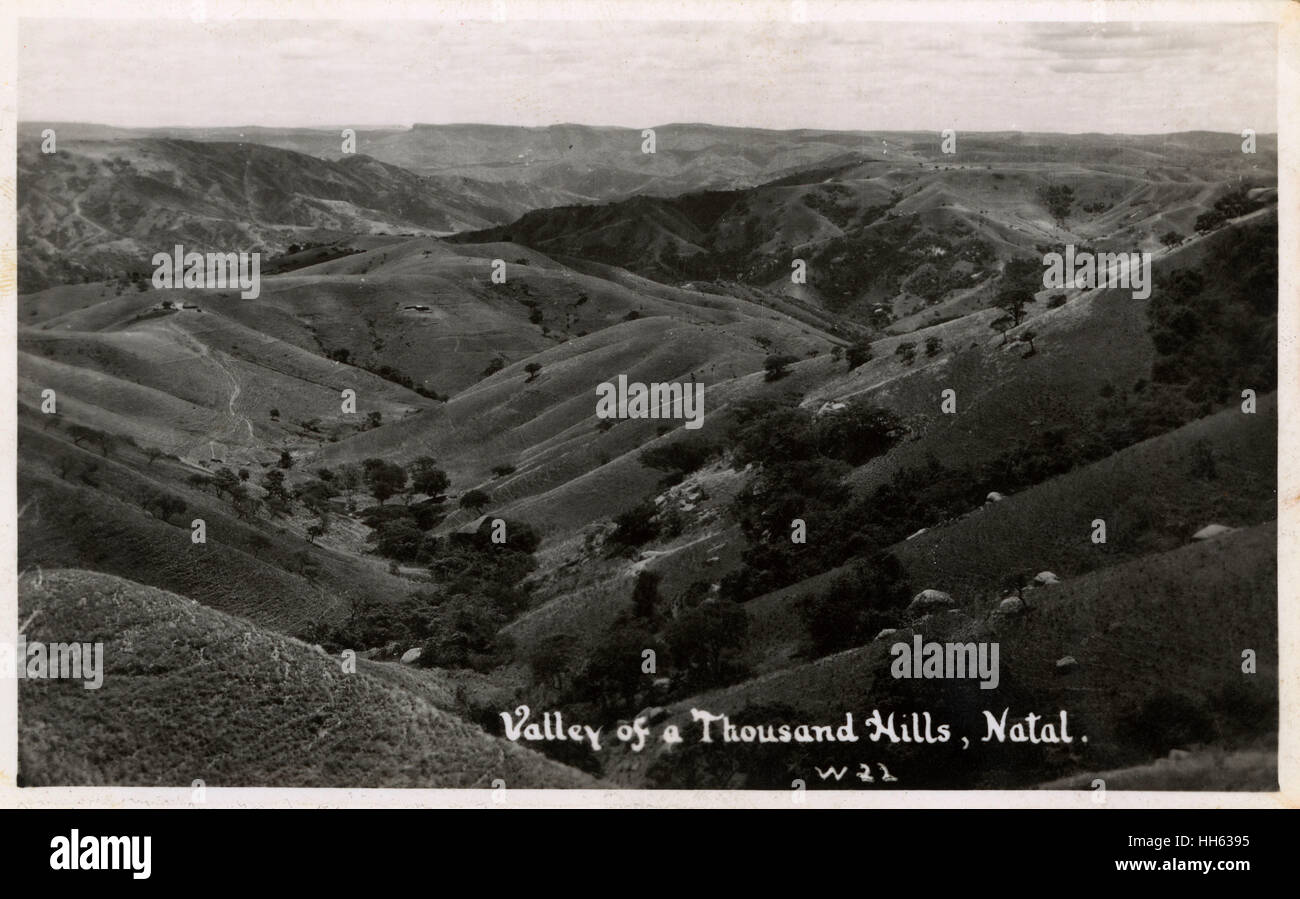 Valley of a Thousand Hills Natal, South Africa. - Stock Image