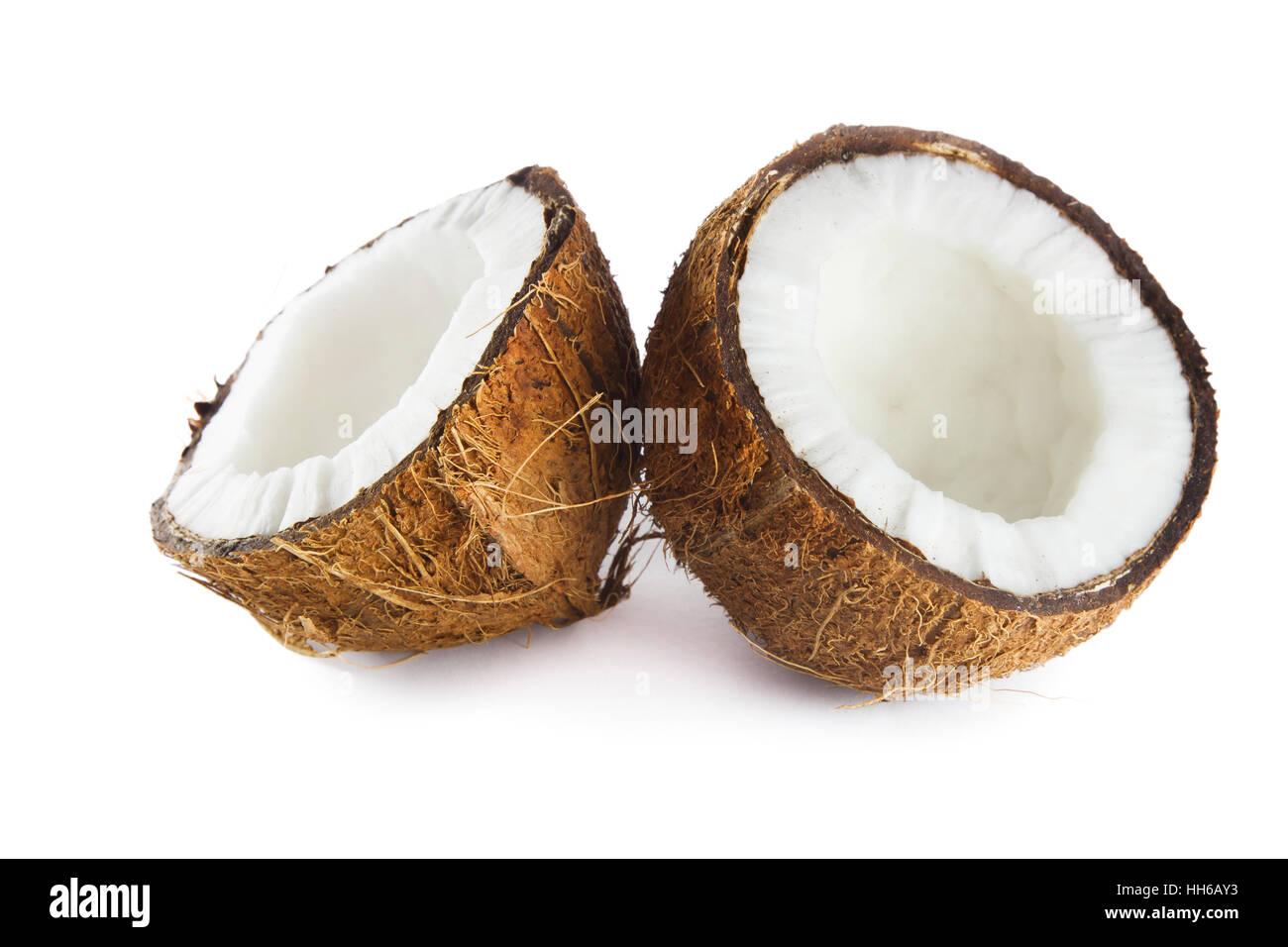 Coconut isolated on white background - Stock Image