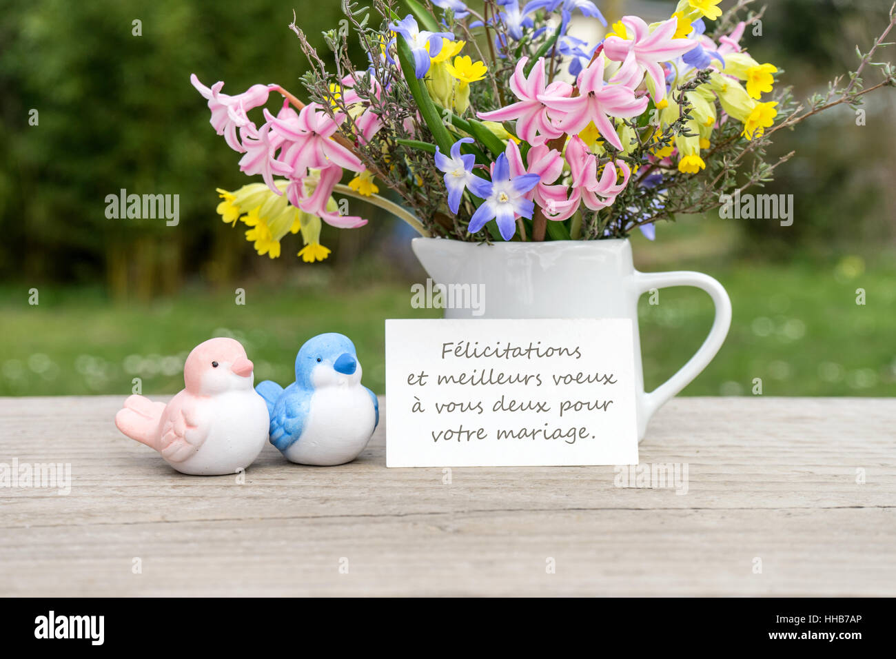 French Greeting Card With The Text The Very Best Wishes For The