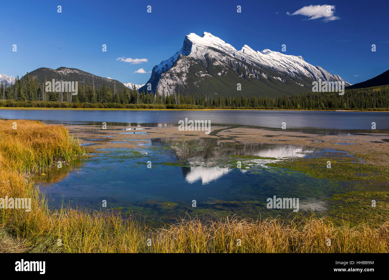 reflections-of-rundle-mountain-in-vermil
