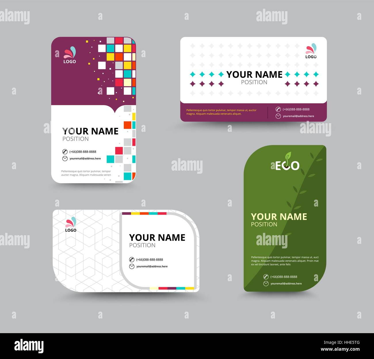 Contact card template business name card design set vector stock contact card template business name card design set vector illustration fbccfo