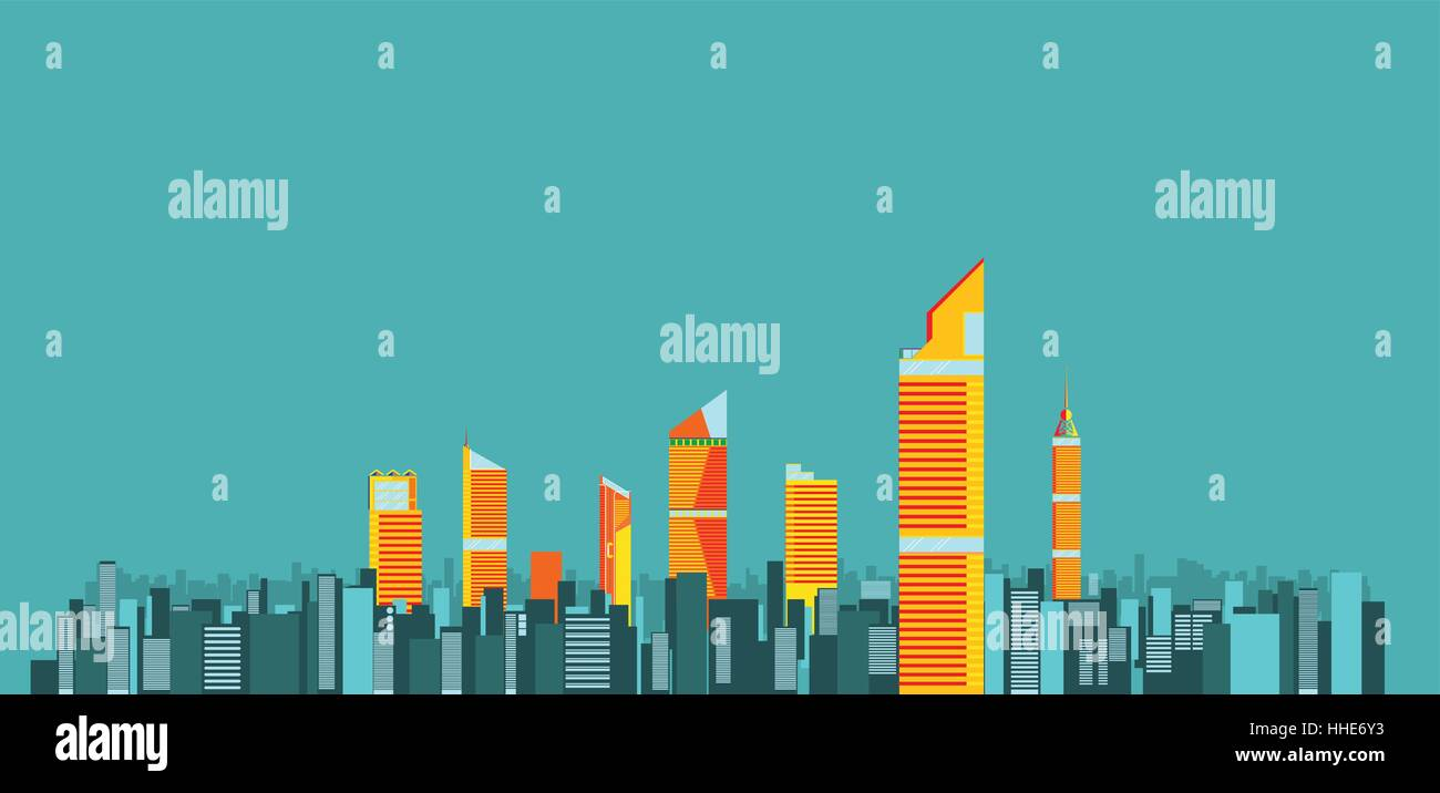 city skylines background vector illustration flat city building up town flat infographic and design