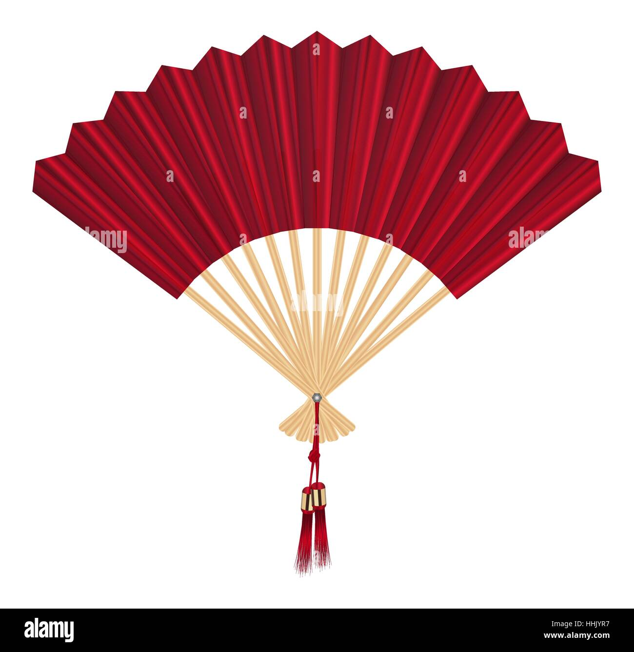 chinese fan vector on a white background stock vector art