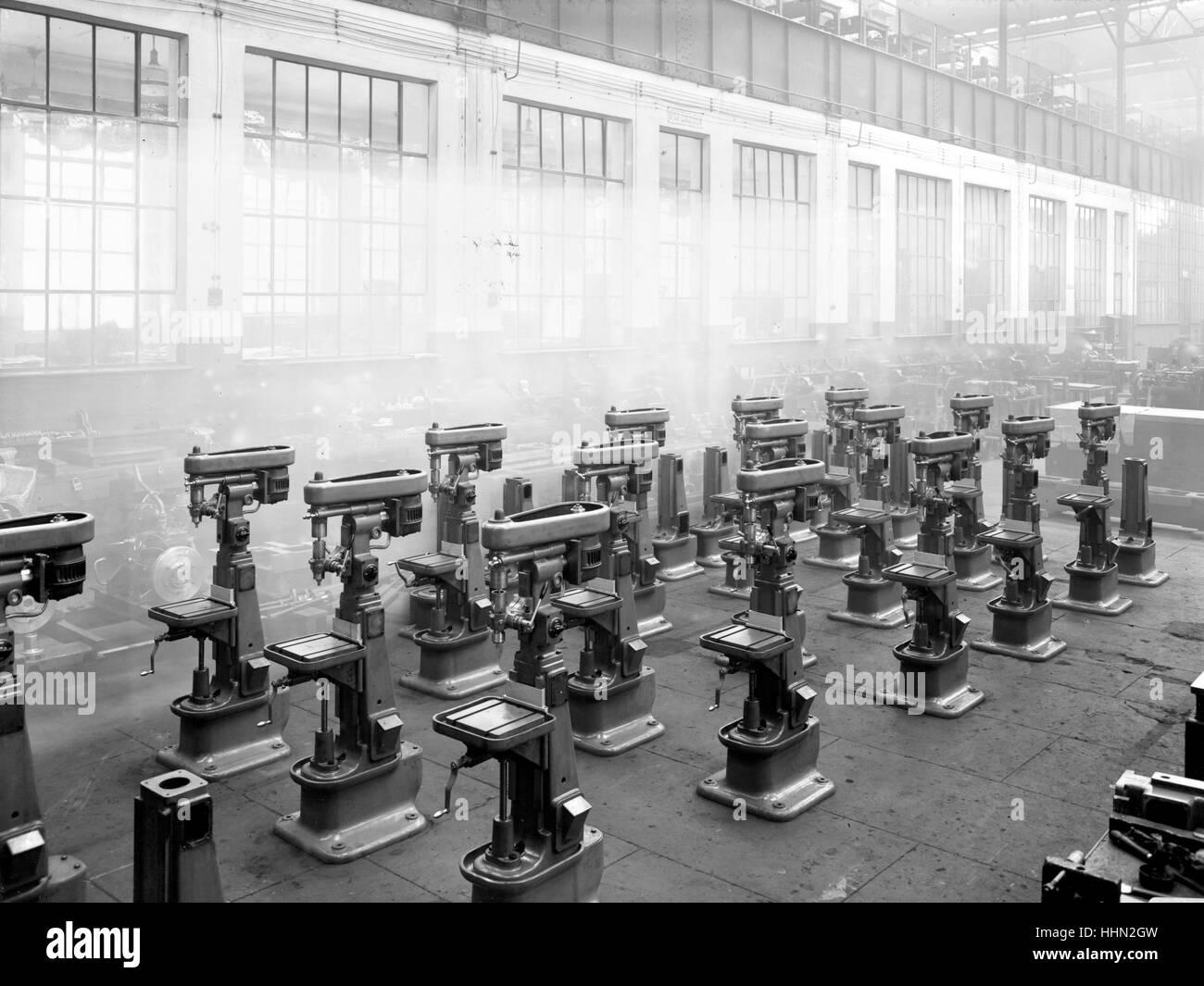 1930 - 40. Fiat - Ansaldo big motors Factory. - Stock Image