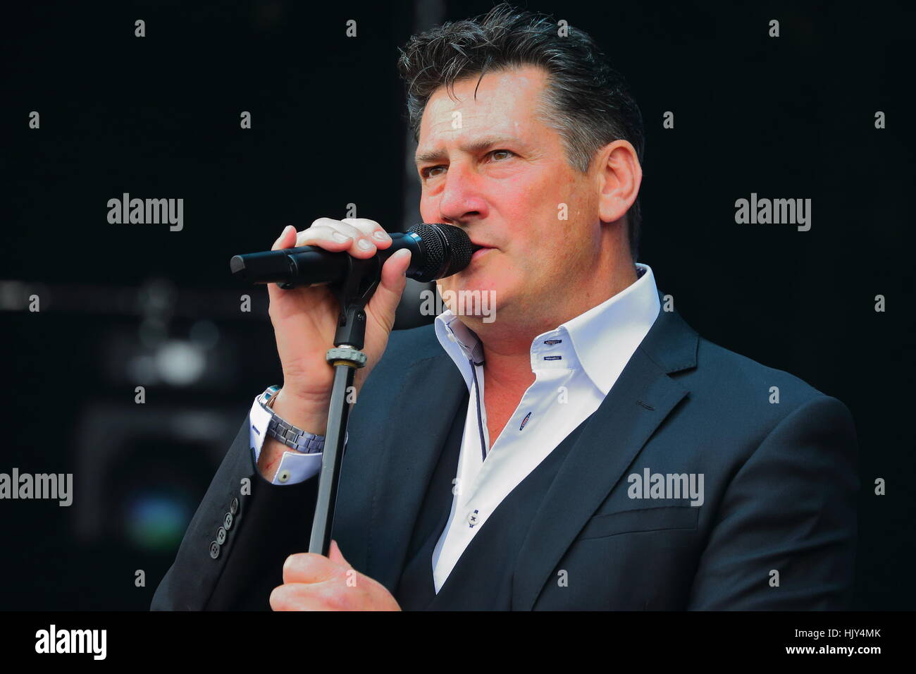 Tony Hadley at the Rewind South 80s Music Festival 2016 in Henley-on-Thames. Stock Photo