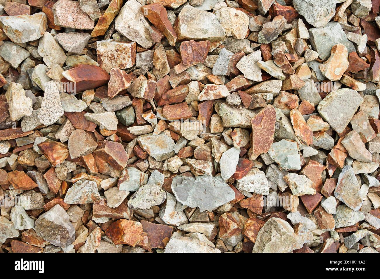 angular cobble rock background texture - Stock Image