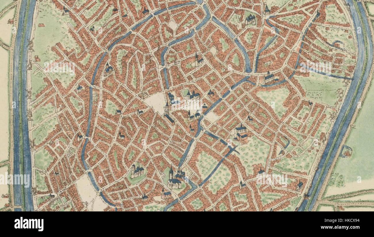 Bruges Deventer Map Stock Photos Bruges Deventer Map Stock Images