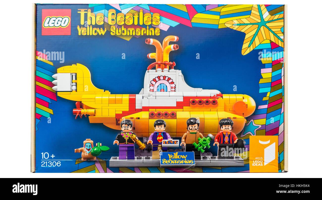 Lego The Beatles Yellow Submarine Construction Kit Stock Photo