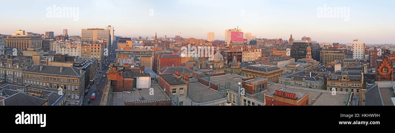 city centre,Glasgow City Panorama,Scotland,Glasgow,buildings,pano,building,dusk,evening,height,Gotonysmith
