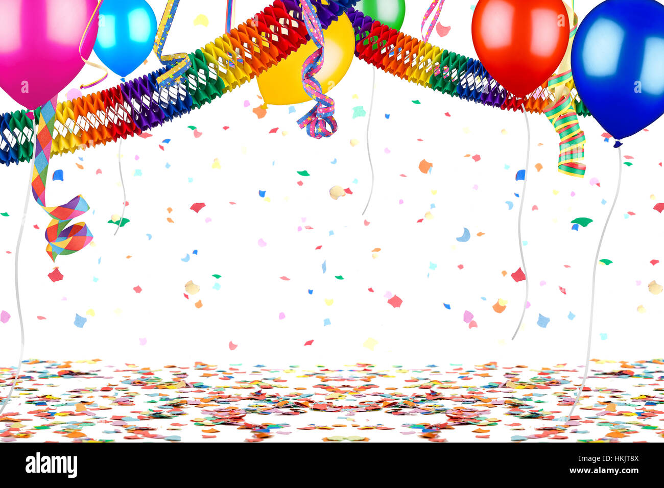 colorful empty party carnival birthday celebration background with