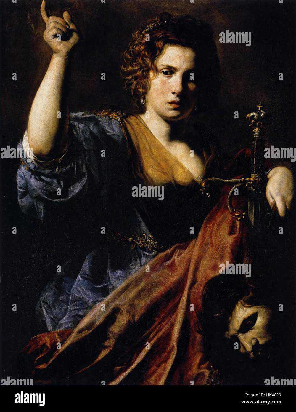 Valentin de Boulogne, Judith - Stock Image
