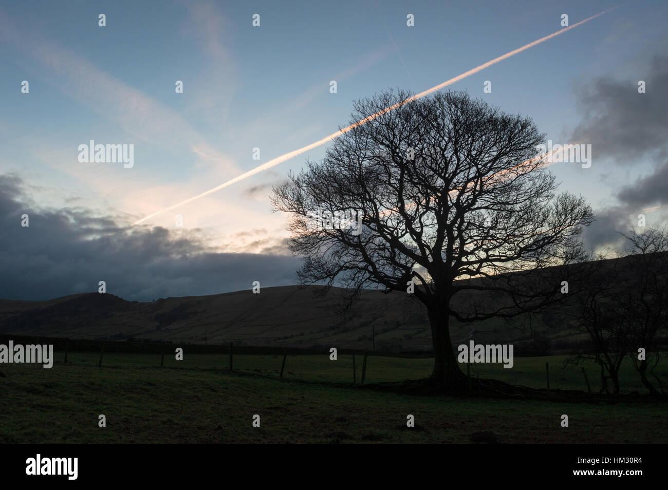 Sunrise In Edale - Stock Image