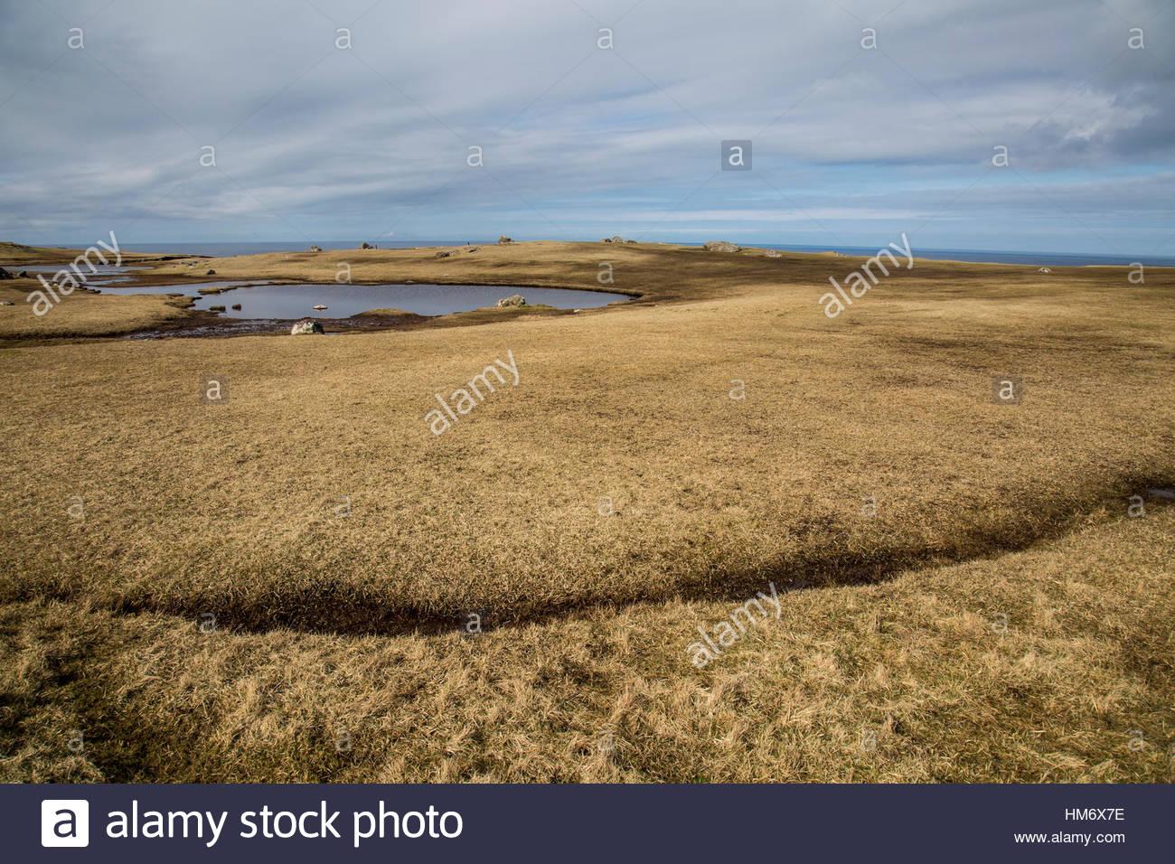 Land Sky Water Shetland Stock Photo