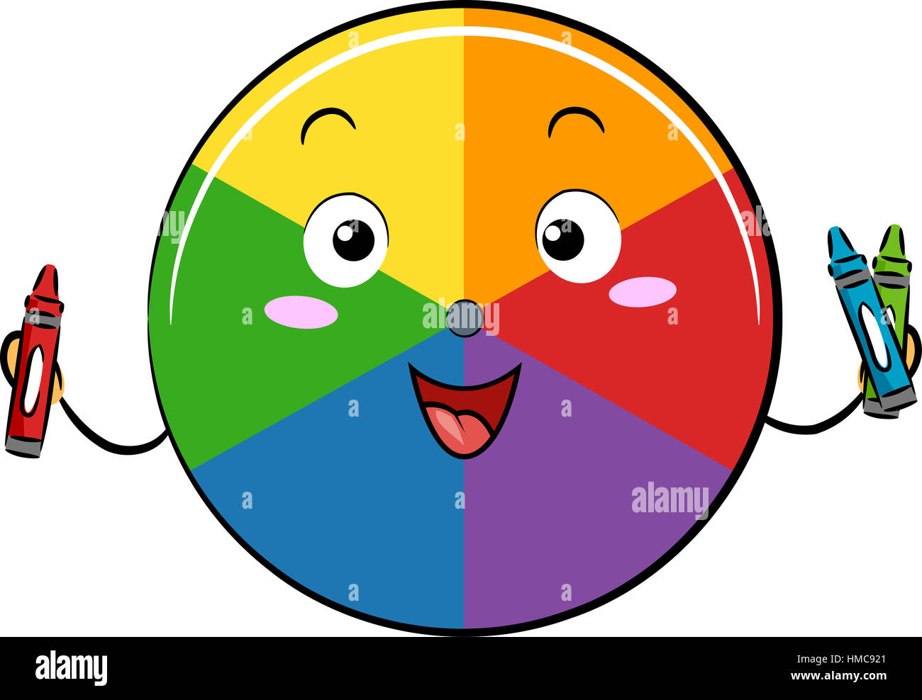 Mascot Illustration Of A Color Wheel Holding Red Blue And Green