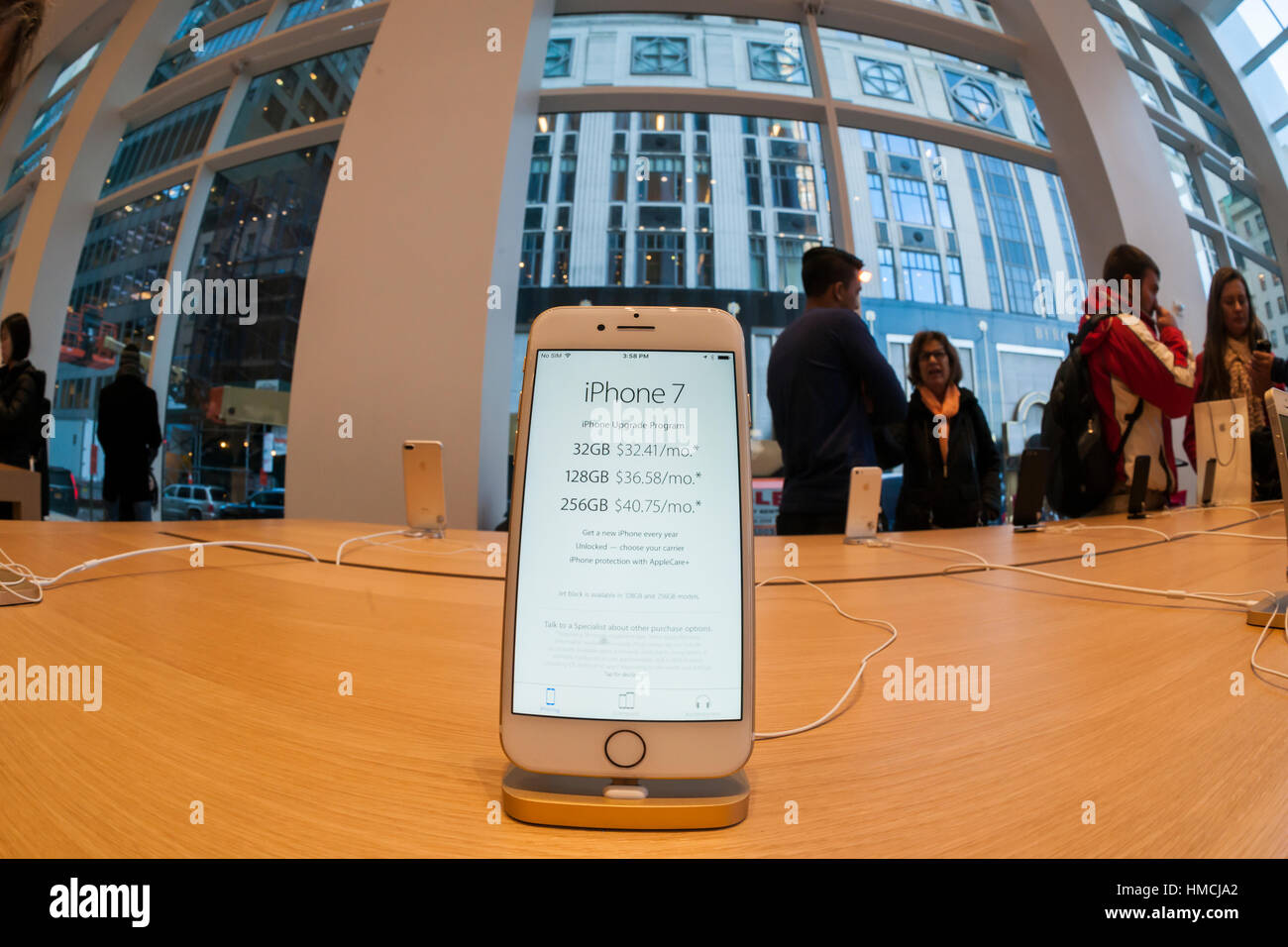 An Iphone 7 Plus In The Temporary Apple Store On Fifth Avenue New 256gb Inter York While Original Undergoes Renovation Monday January 30 2017