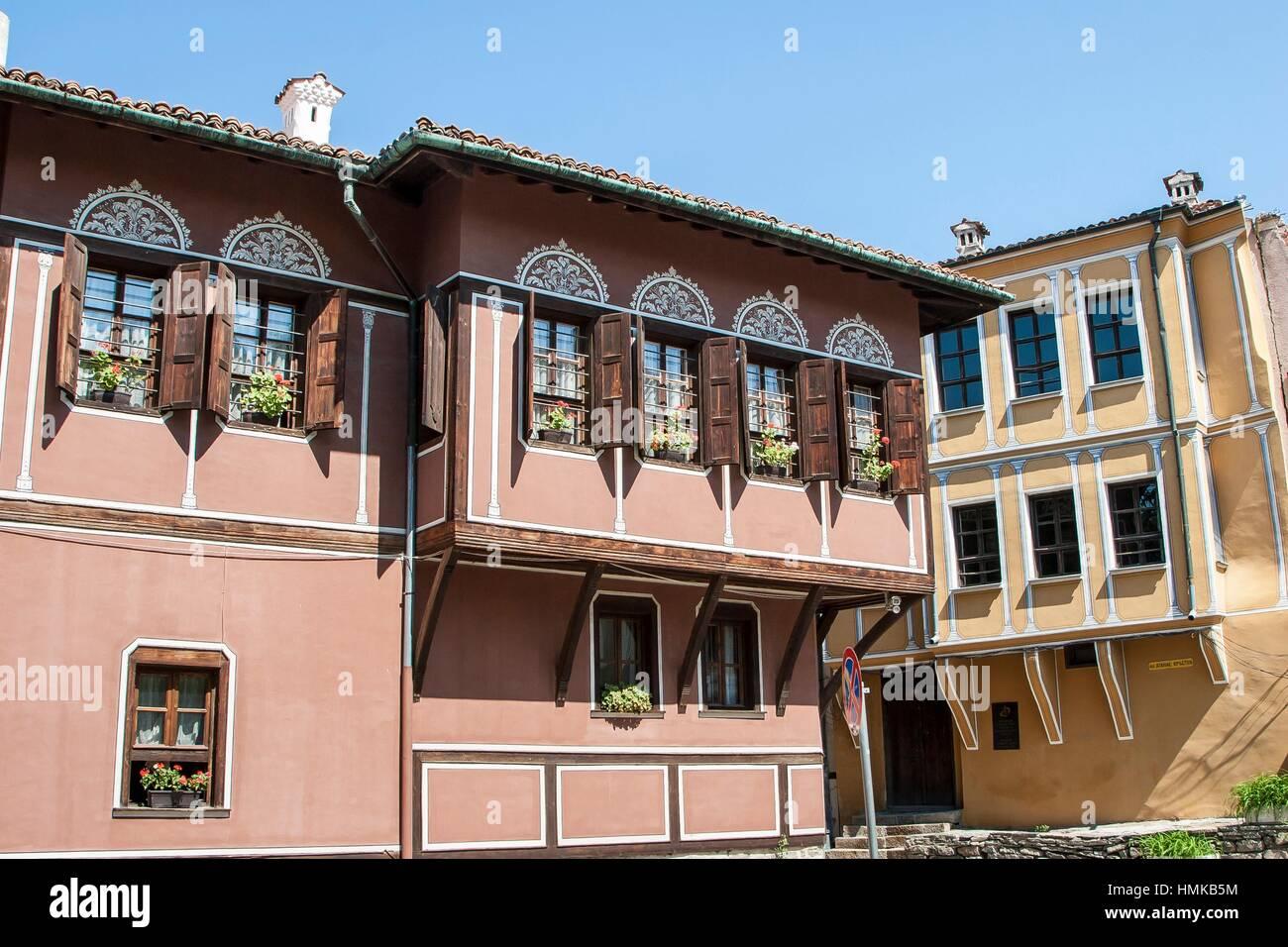 Balabanov House, Nebet height, Old Town, Plovdiv, Bulgaria. - Stock Image