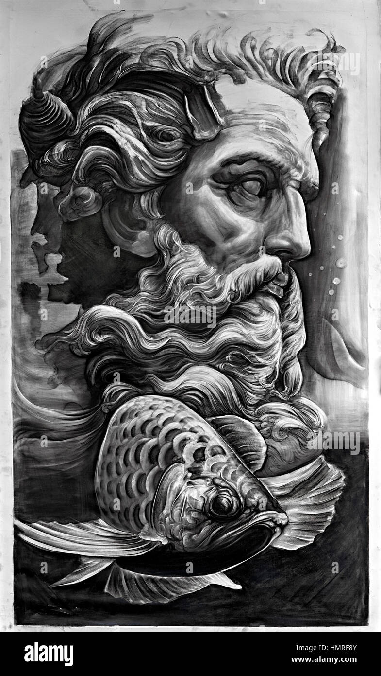 black-and-white-painting-of-neptune-gree