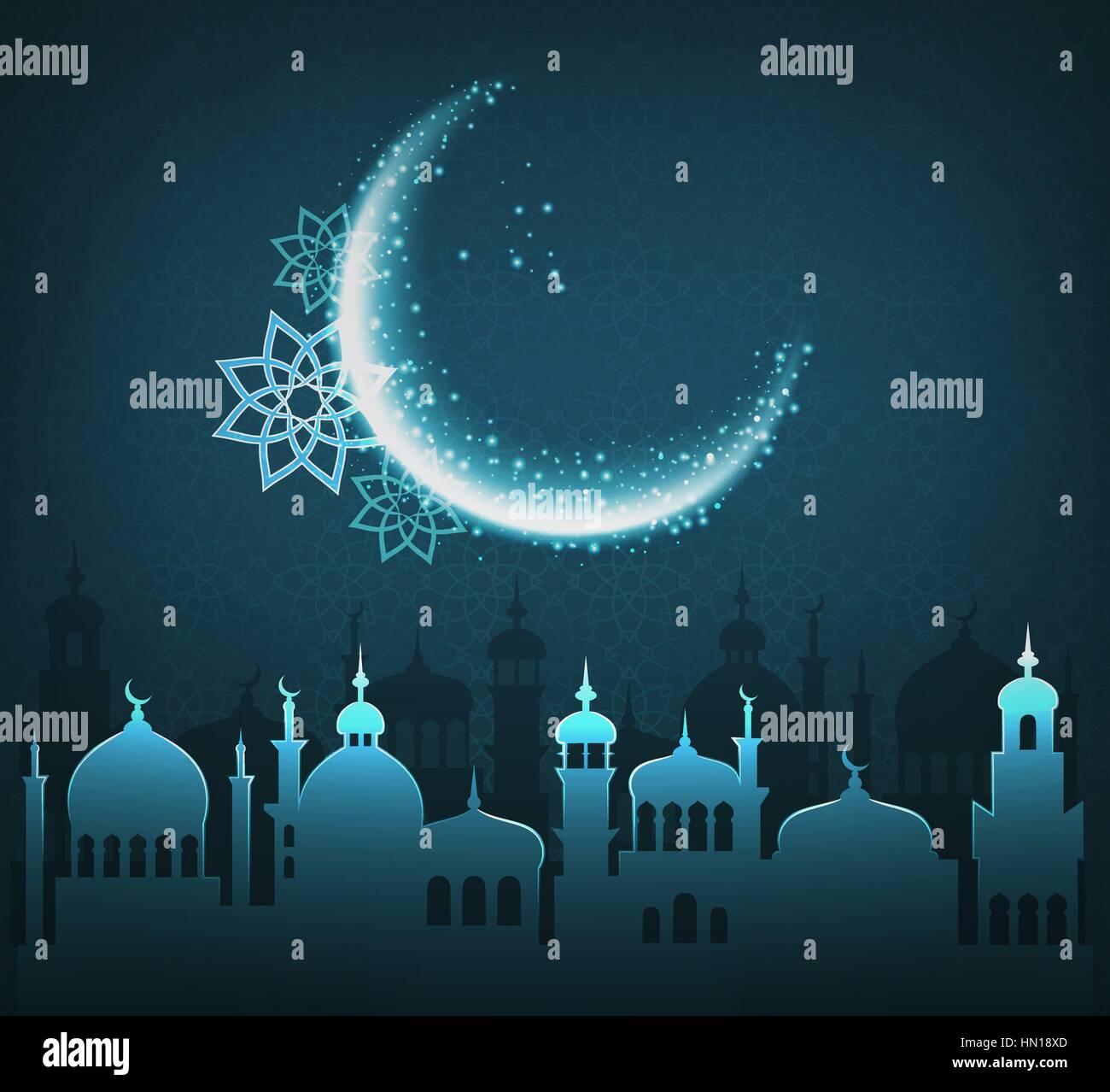 Muslim holiday ramadan kareem generous month greet card in blue muslim holiday ramadan kareem generous month greet card in blue m4hsunfo