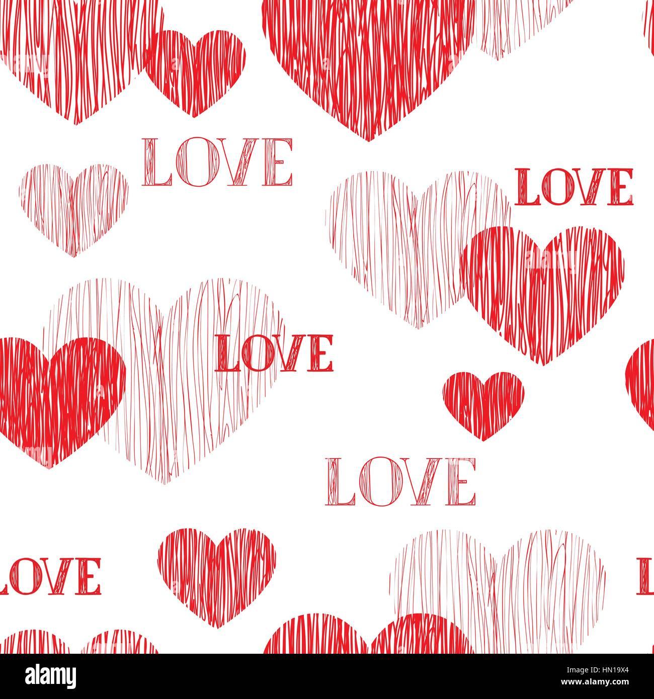 Love Heart Seamless Pattern Happy Valentines Day Wallpaper Love