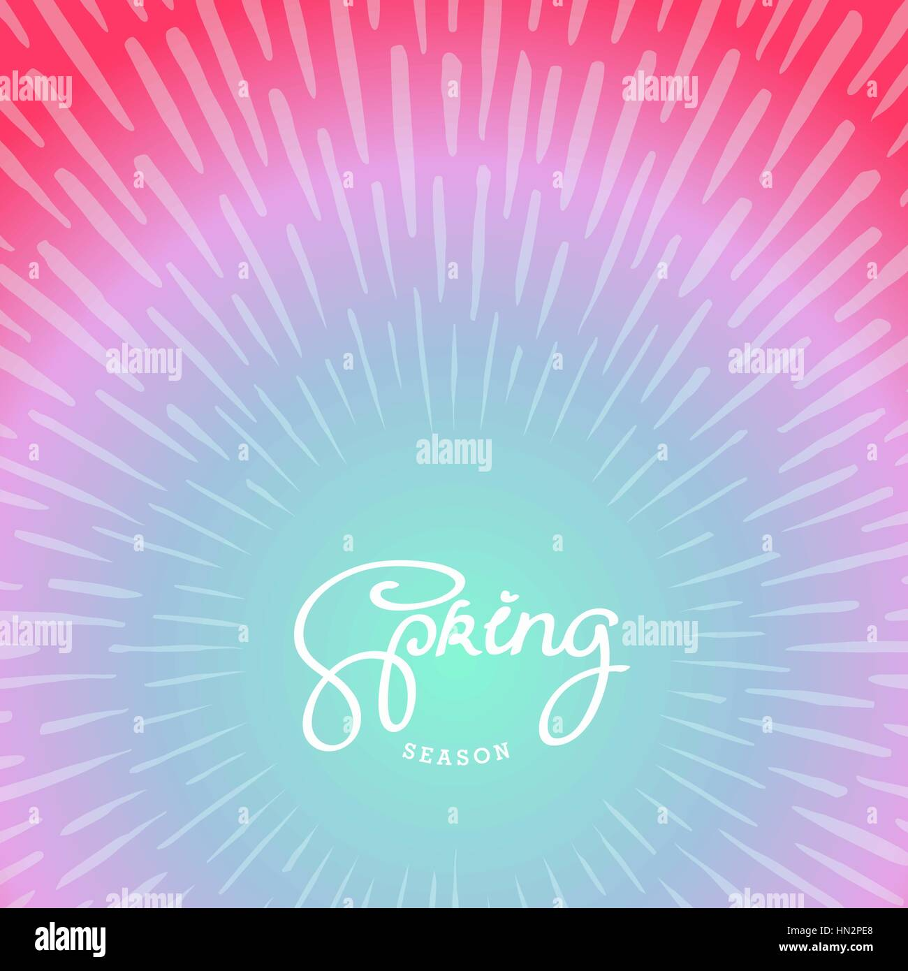 Spring season. Abstract artwork background with doodle sunburst ...