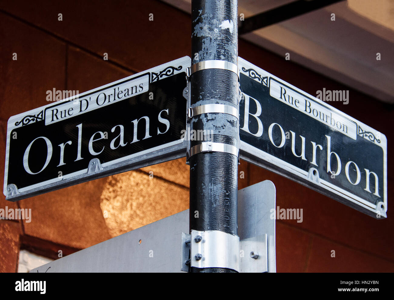 Street Signs For Rue D Orleans And Rue Bourbon In New