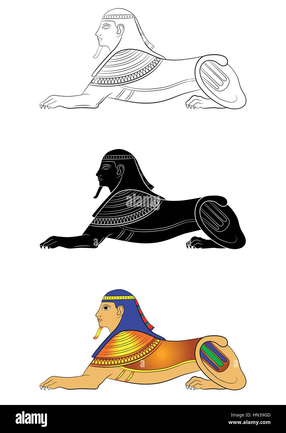 Sphinx Mythical Creature Of Ancient Egypt Stock Vector Art
