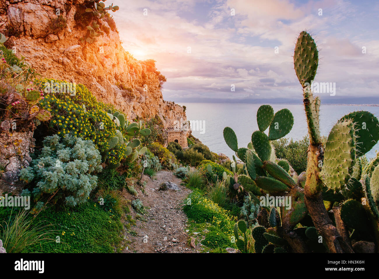 Beautiful views of the cliffs - Stock Image