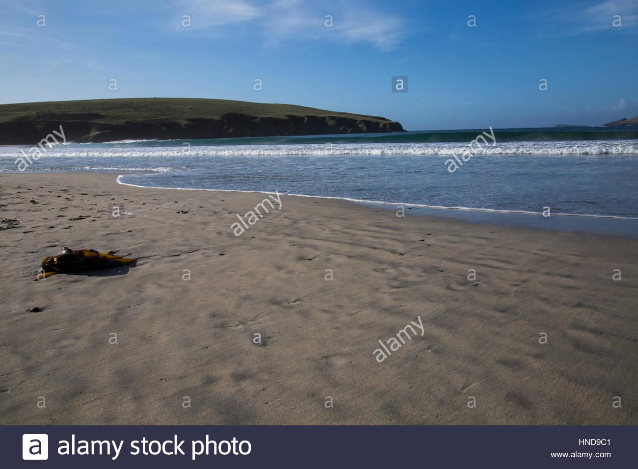 Sandscape Landscape of St. Ninian's Isle Stock Photo