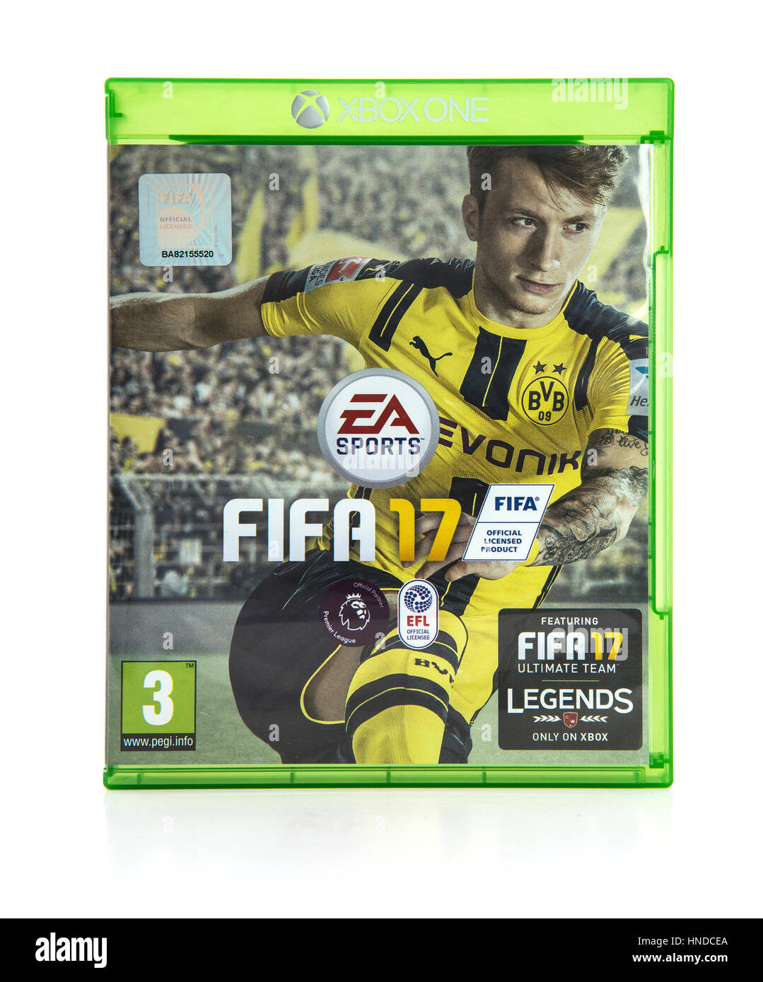 FIFA 17 for the Xbox 260, FIFA 17 is a very popular Football game from EA Sports. - Stock Image