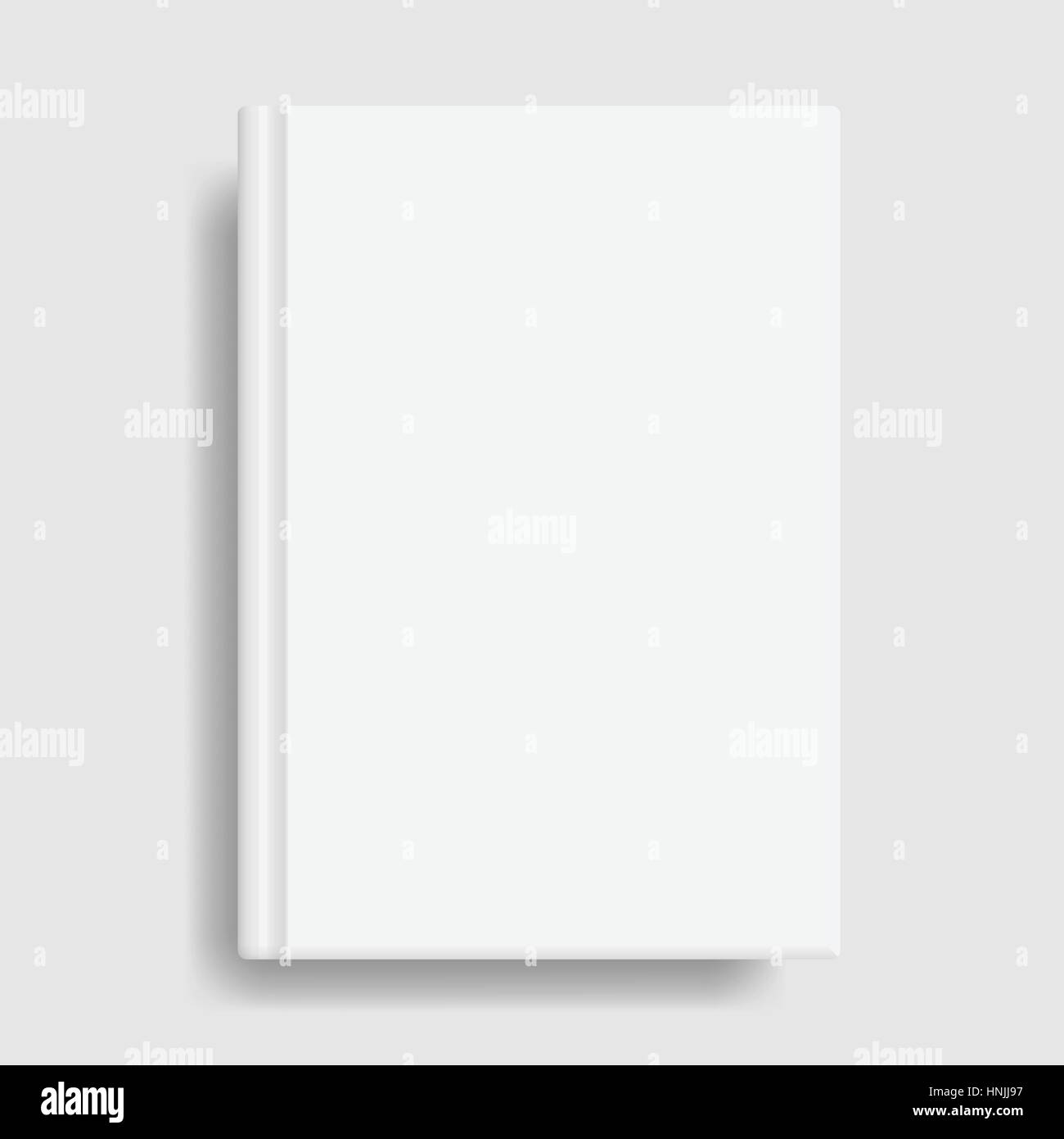 Book Cover Mockup Blank White Template Idea For Diary Or Textbook Design School Educational Institution Vector Illustration Art