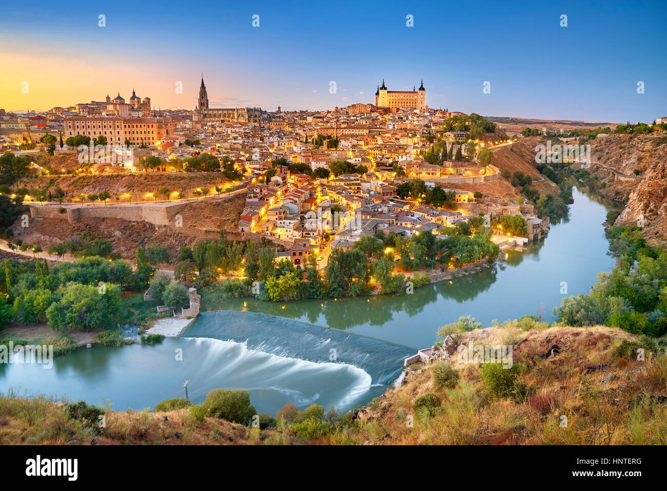 Toledo - old town skyline, Spain - Stock Image