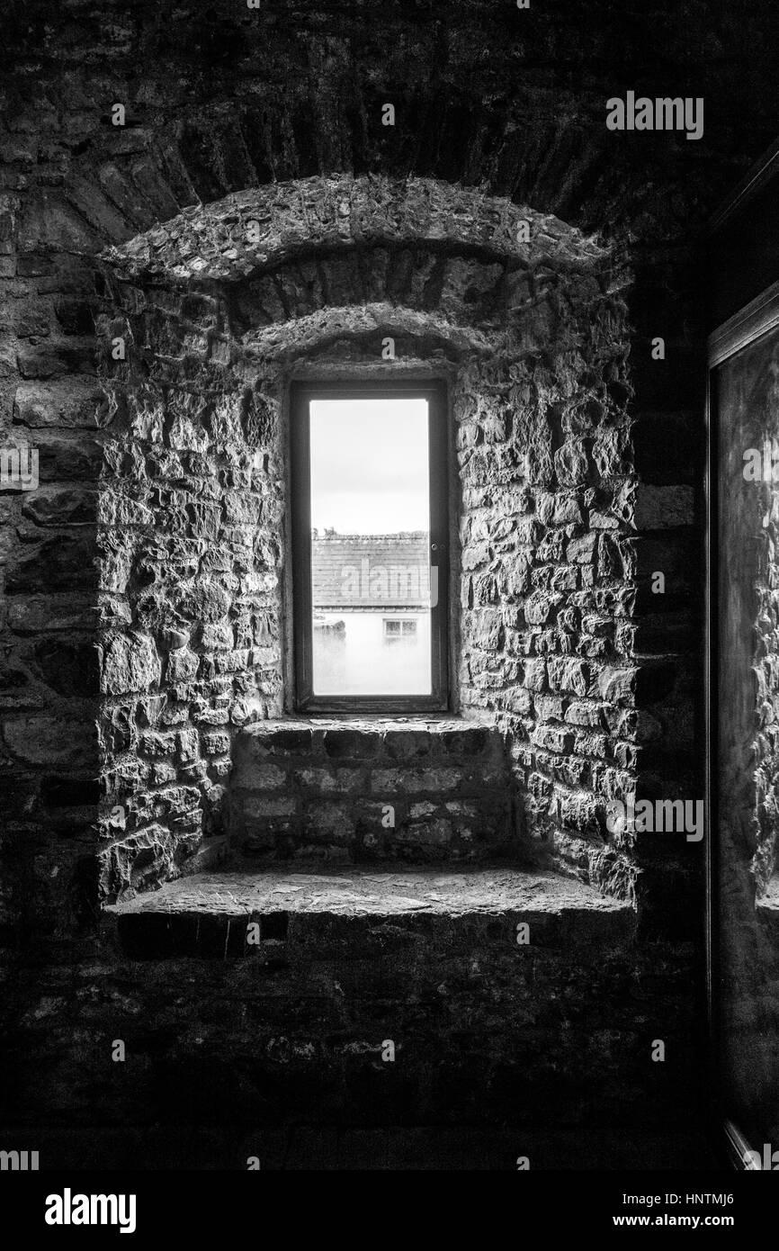 Castle windows - Stock Image