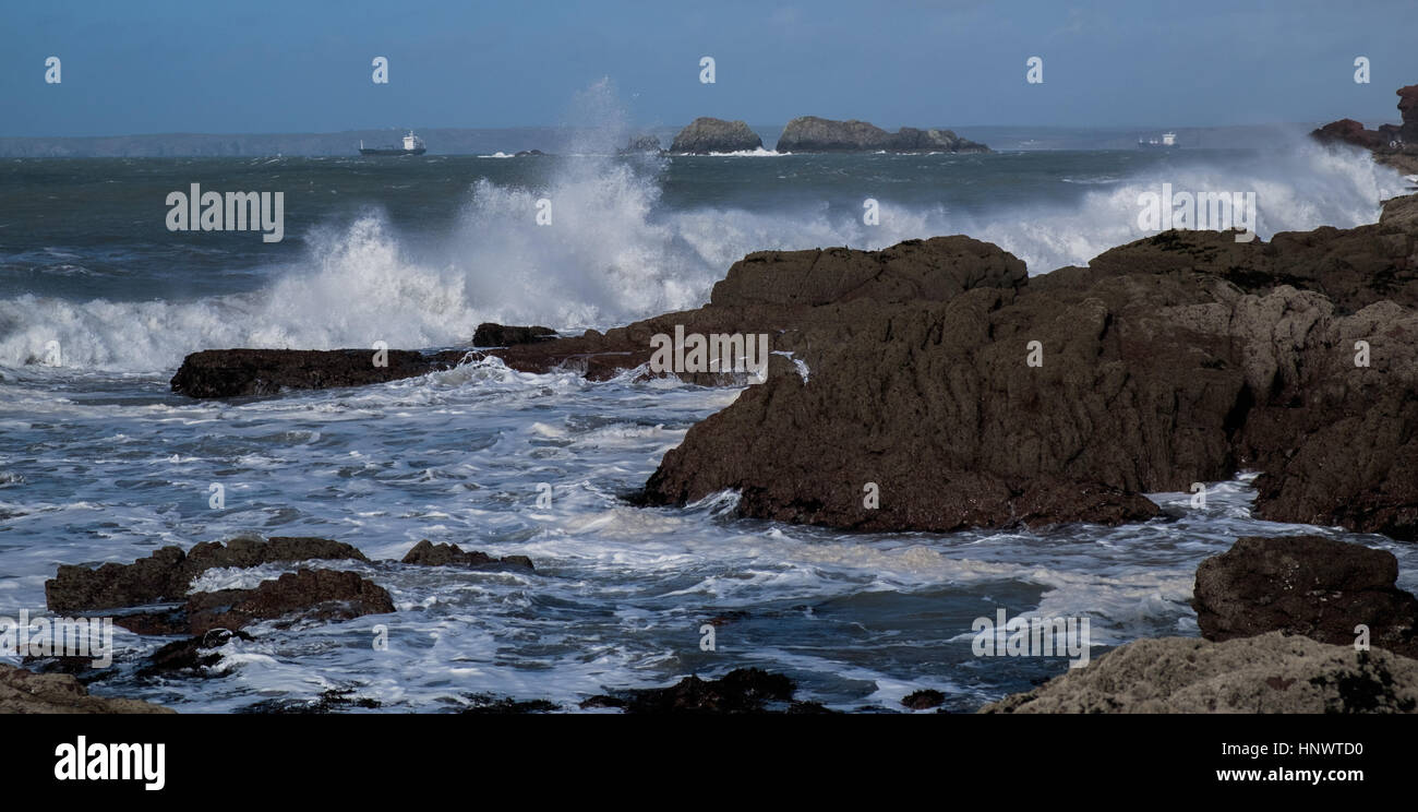 Welsh coastlines - Stock Image