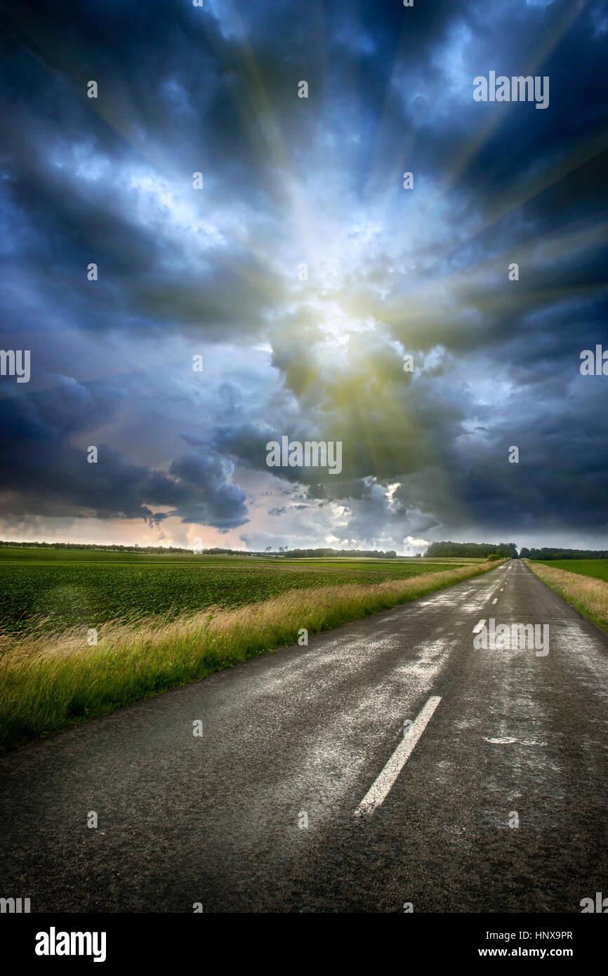 Stormy sky - Stock Image