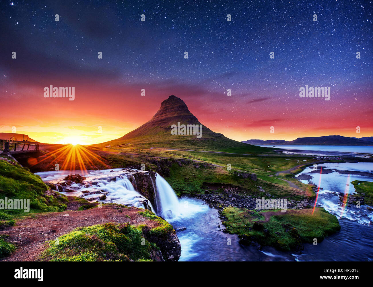 Fantastic views the landscape of Iceland - Stock Image