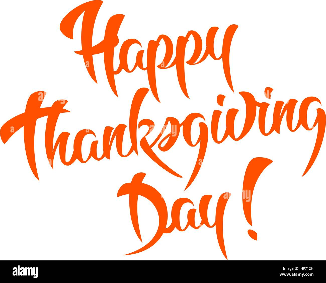 happy thanksgiving day vector calligraphy design template cute