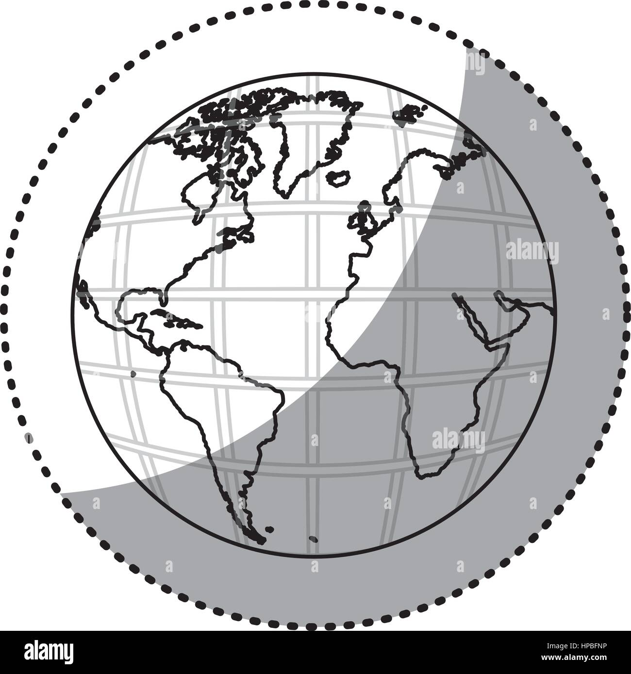 Sticker silhouette earth world map with continents in 3d stock sticker silhouette earth world map with continents in 3d gumiabroncs Choice Image