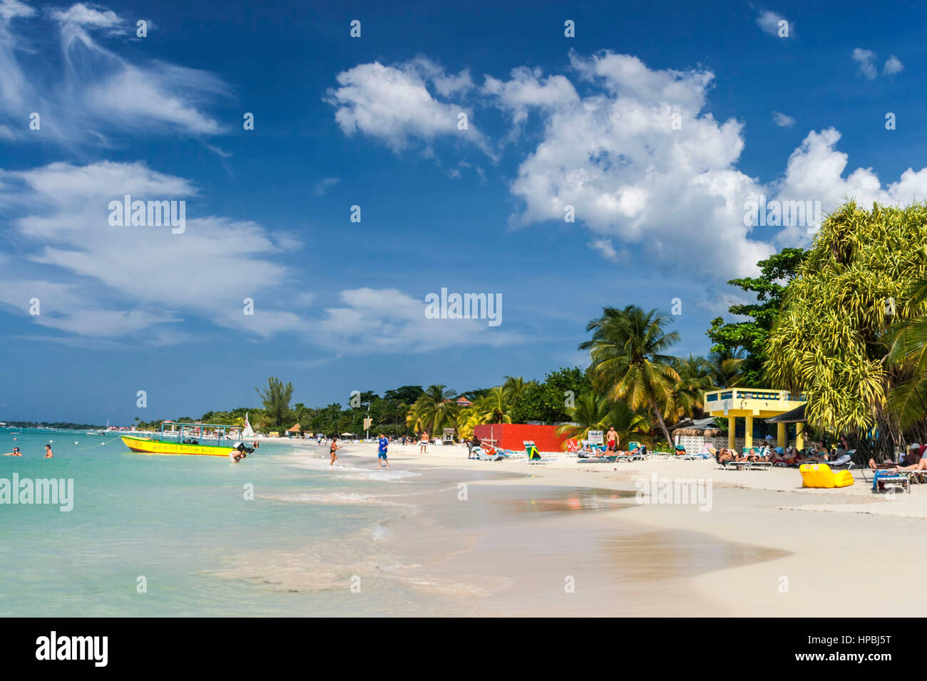 Jamaica Negril beach , West Indies, carribean island - Stock Image