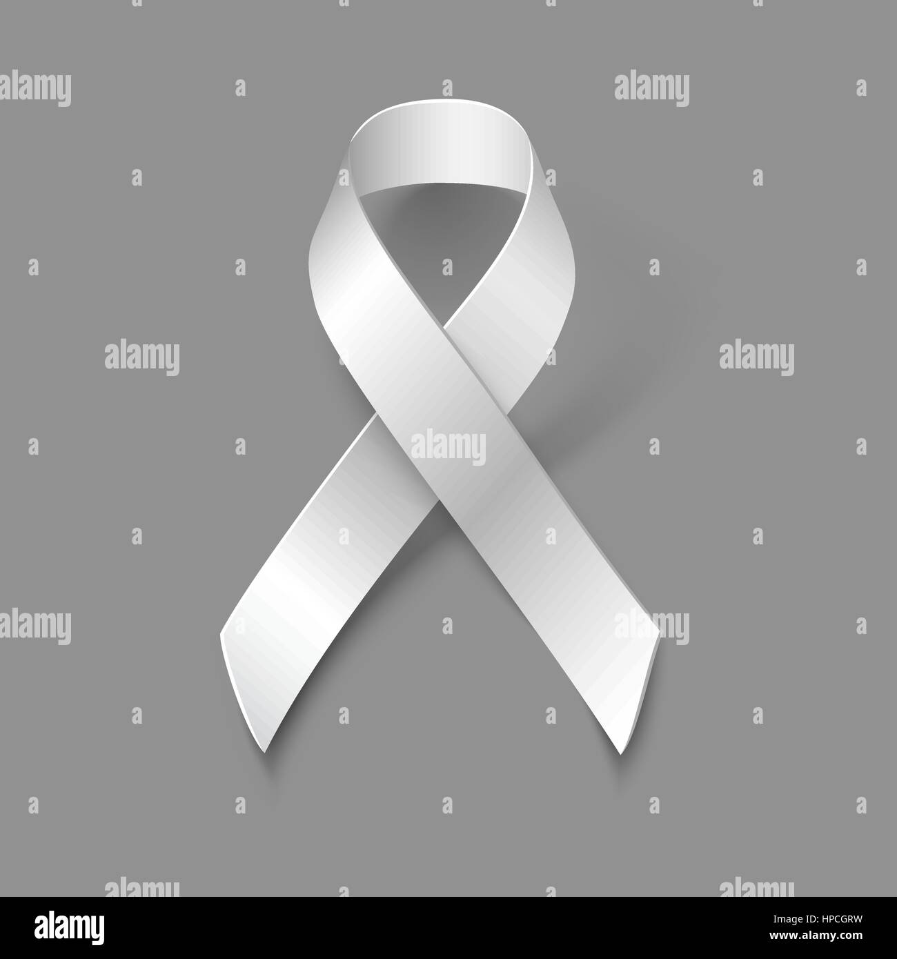 Awareness White Ribbon Symbol Violence Against Women On Grey Stock