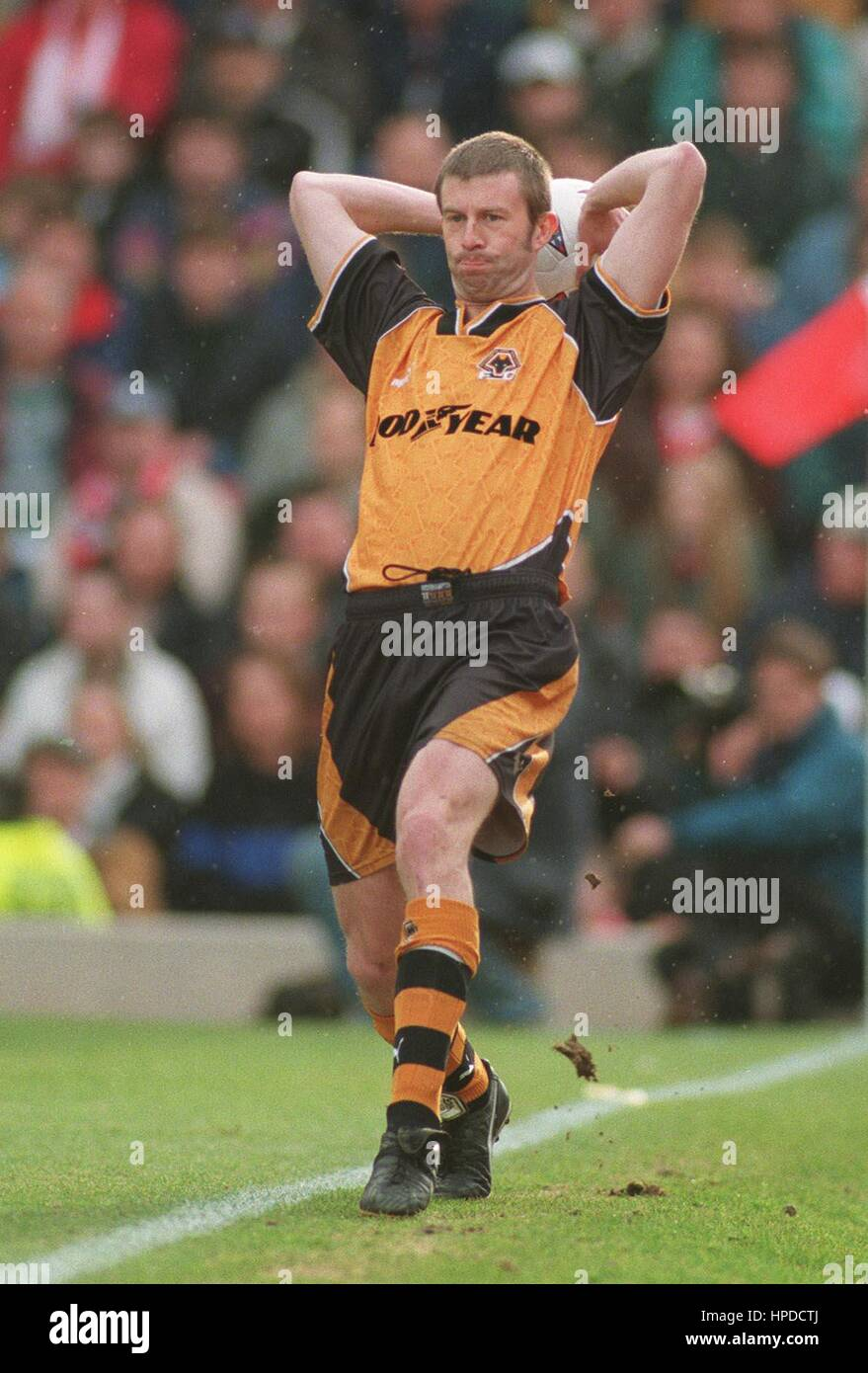 STEVE FROGGATT WOLVERHAMPTON WANDERERS FC 24 February 1997 - Stock Image