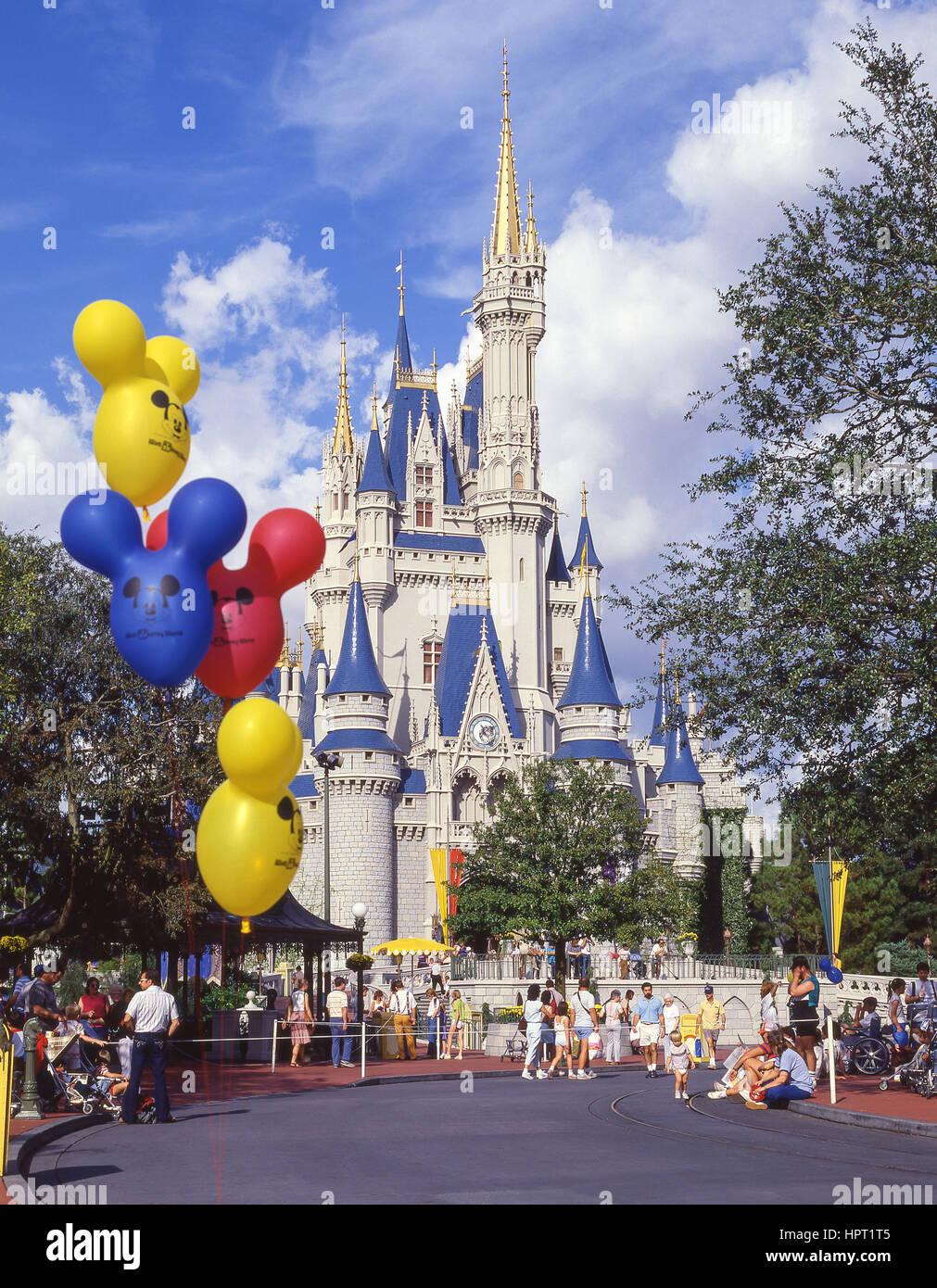 Cinderella's Castle, Magic Kingdom, Walt Disney World, Orlando, Florida, United States of America - Stock Image